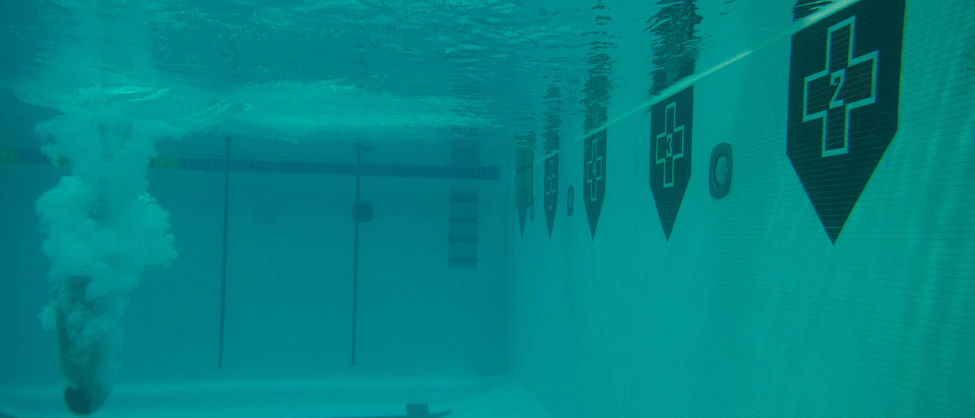 UWEC Pool Underwater Swimmer