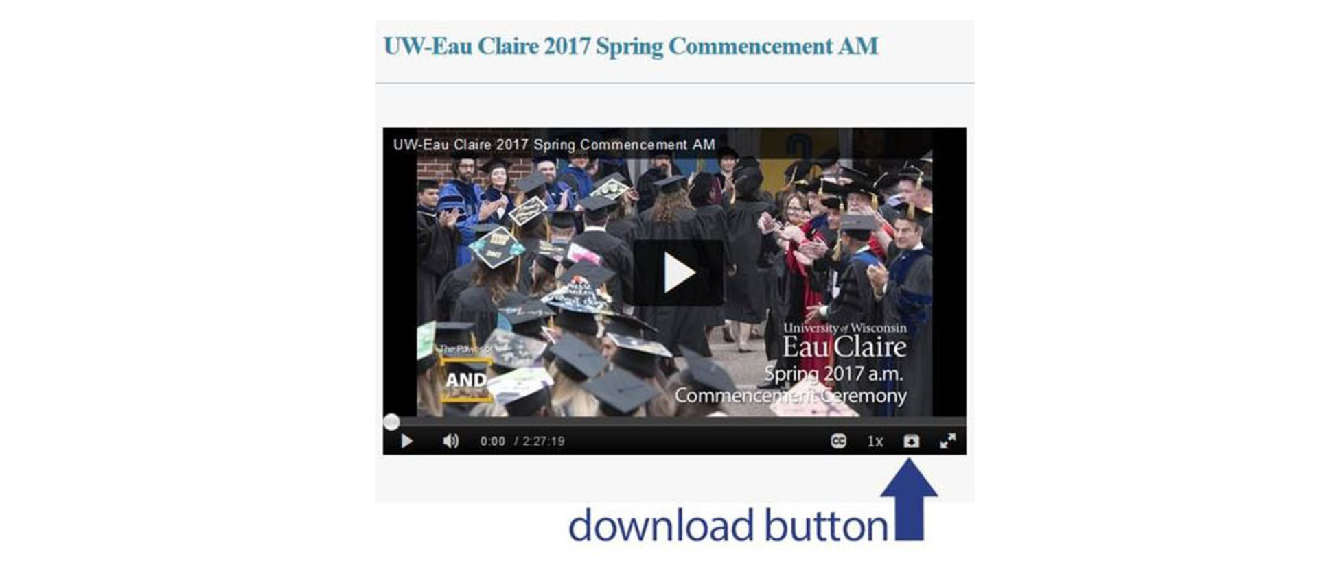 How to download previous commencements
