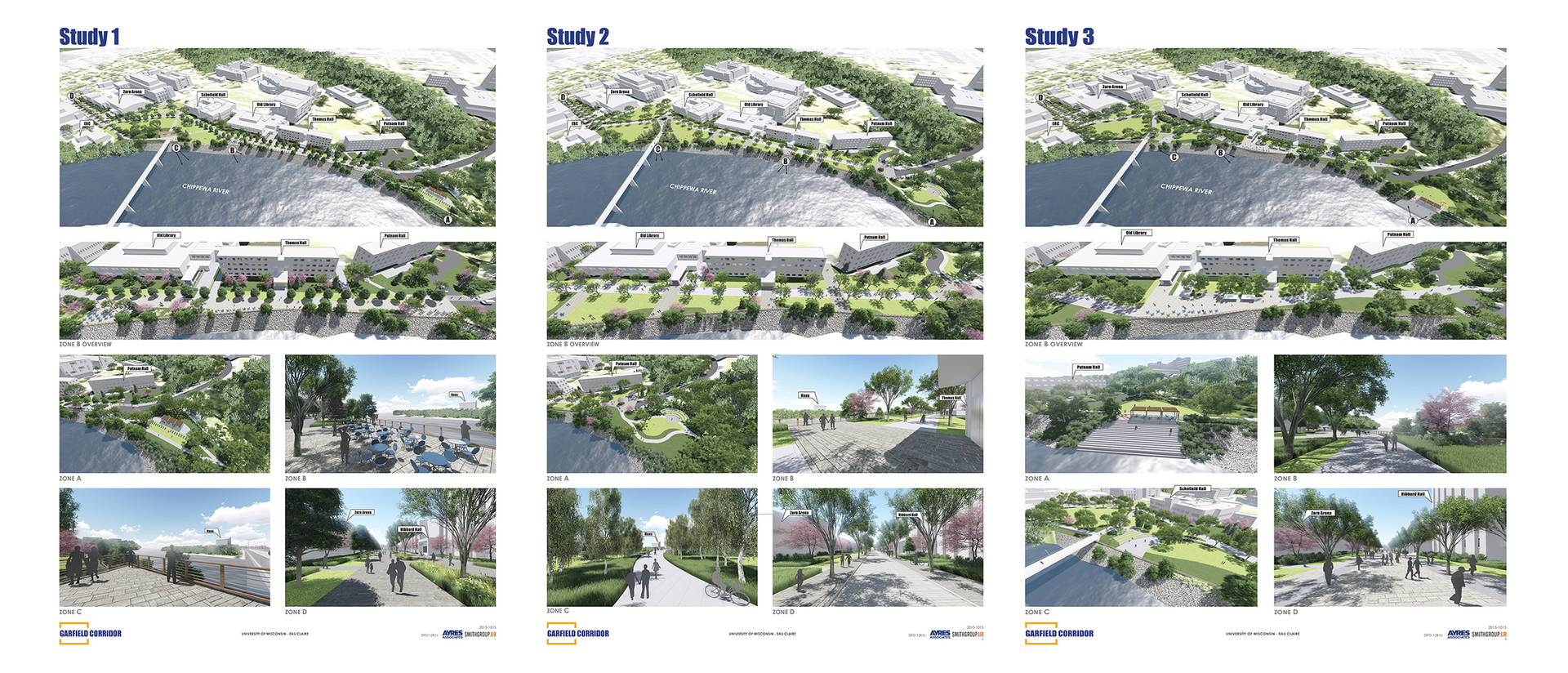 Garfield Ave project studies 1-3