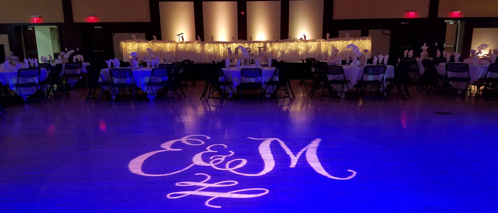 Wedding with Floor Initials