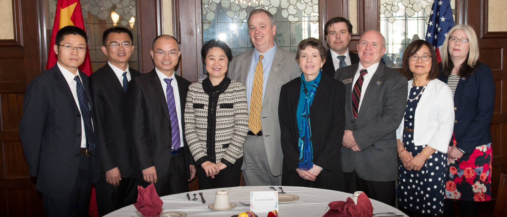 Huaqiao University delegation visits UWEC