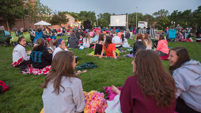 Summer Cinema, outdoor movie on campus