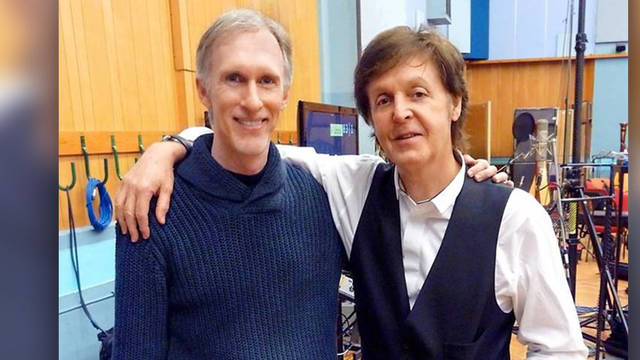 Mark McKenzie and Paul McCartney
