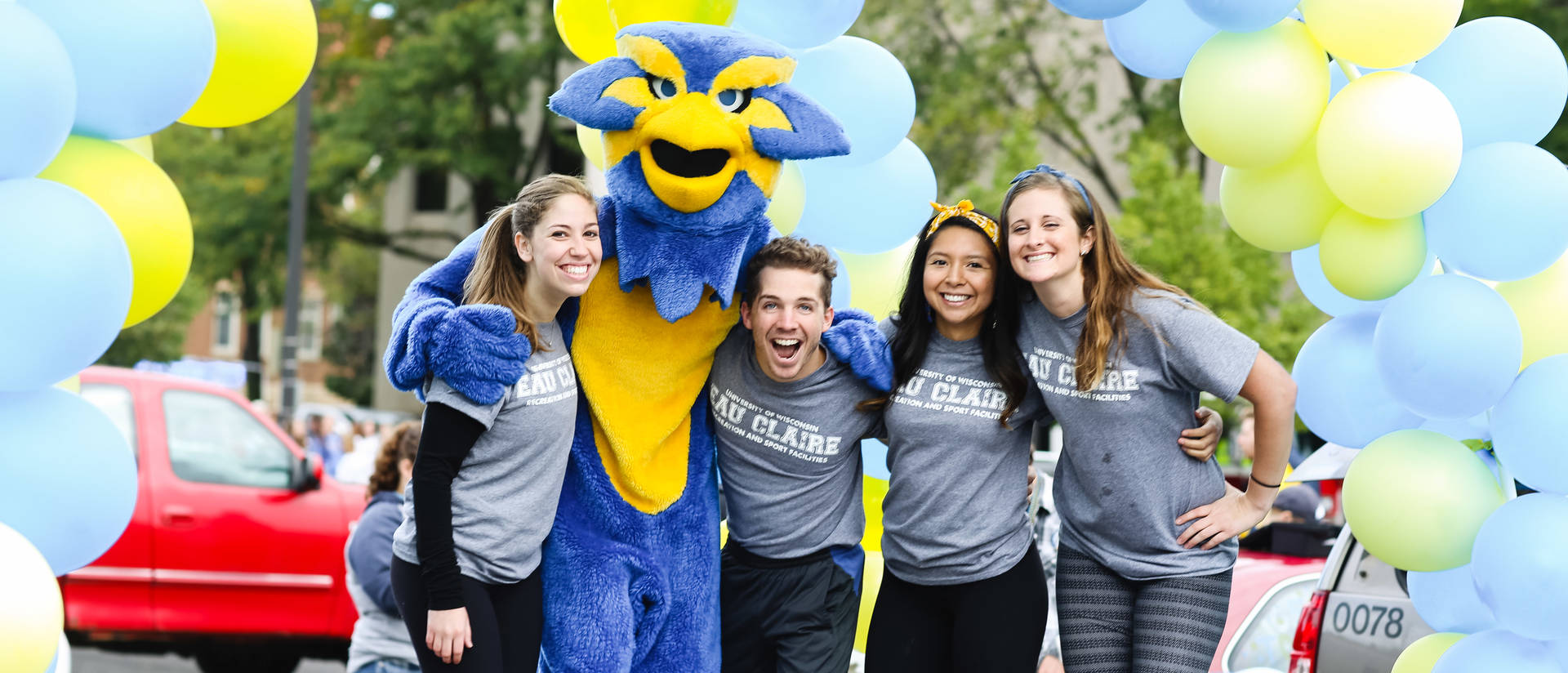 Student recreation Staff with Blu