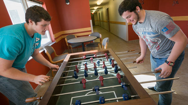 Foosball table UWEC-BC