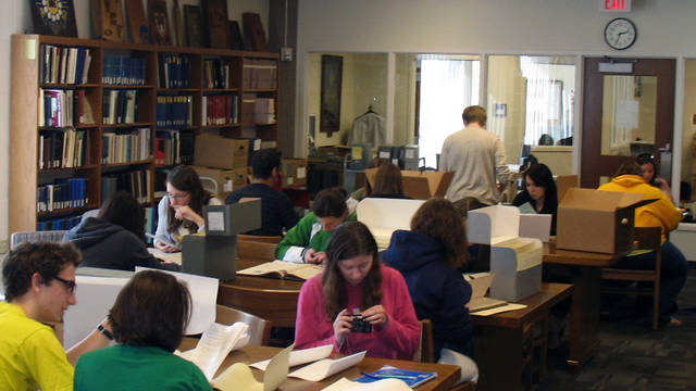 Special Collections + Archives Reading Room