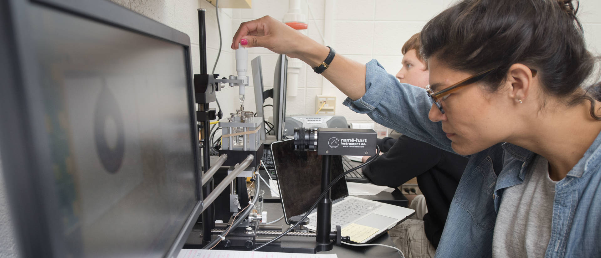 UW-Eau Claire materials science student at work