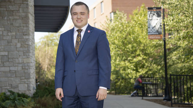 Senior Ryan Ring is in his second year as a student representative on the UW System Board of Regents.