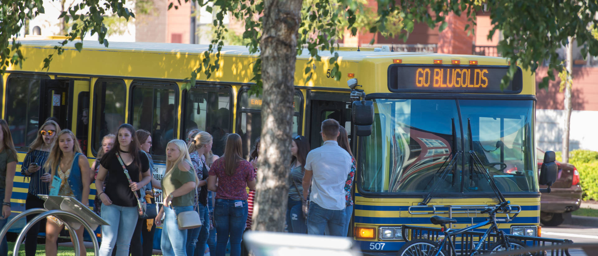 UWEC Public Transportation picks up students on campus