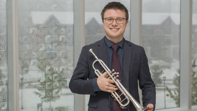 Senior music major Connor Pietrzak