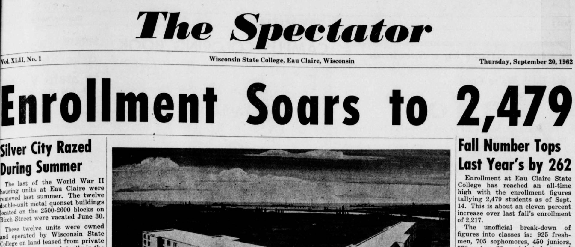 Cover of the Spectator from 9/20/1962