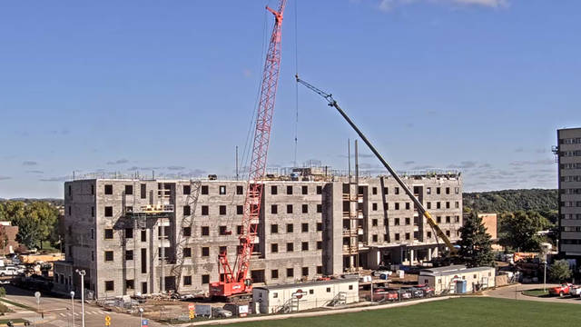 UW-Eau Claire new residence hall construction October 2018