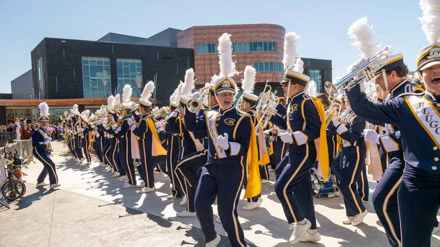 BMB performs for the Pablo Center opening in 2018