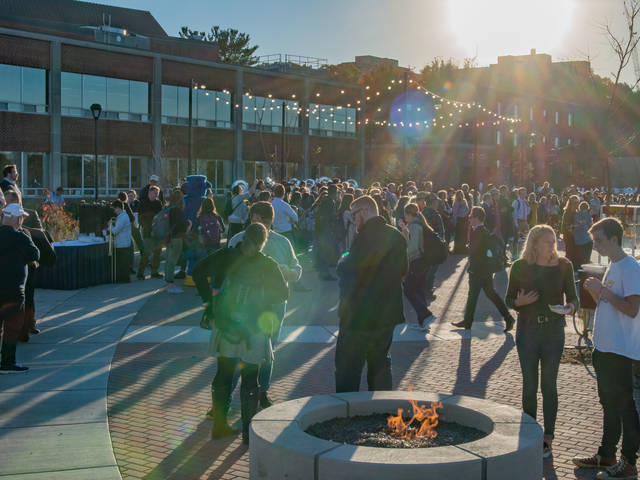 People at UW-Eau Claire's Garfield Avenue Celebration Oct. 18, 2018