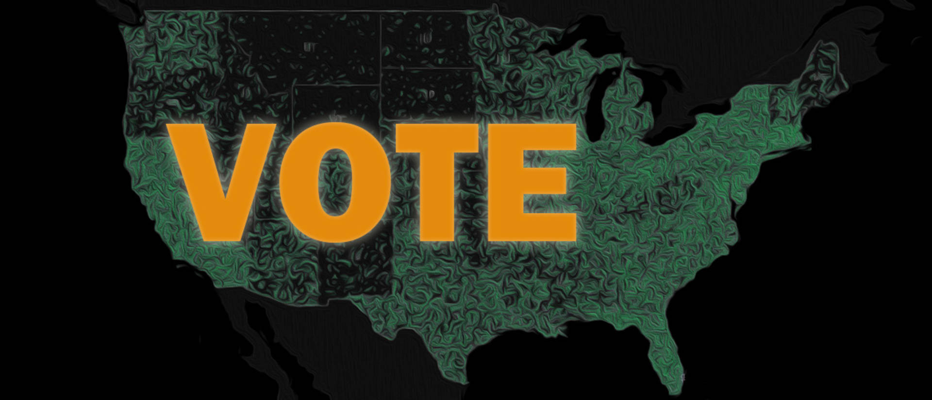 Vote text over image of United States