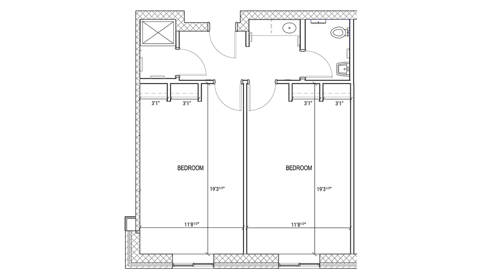 Suite-style Double Layout