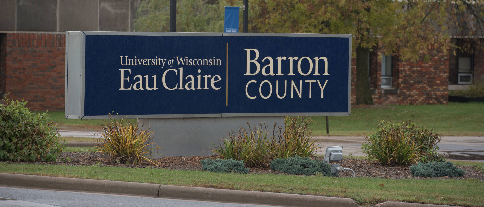 UW-Eau Claire – Barron County campus sign.