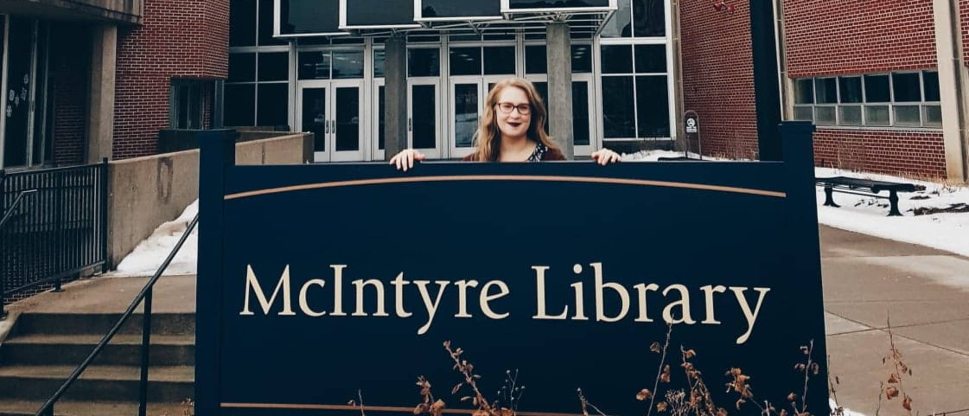 Katelyn Sabelko at McIntyre Library