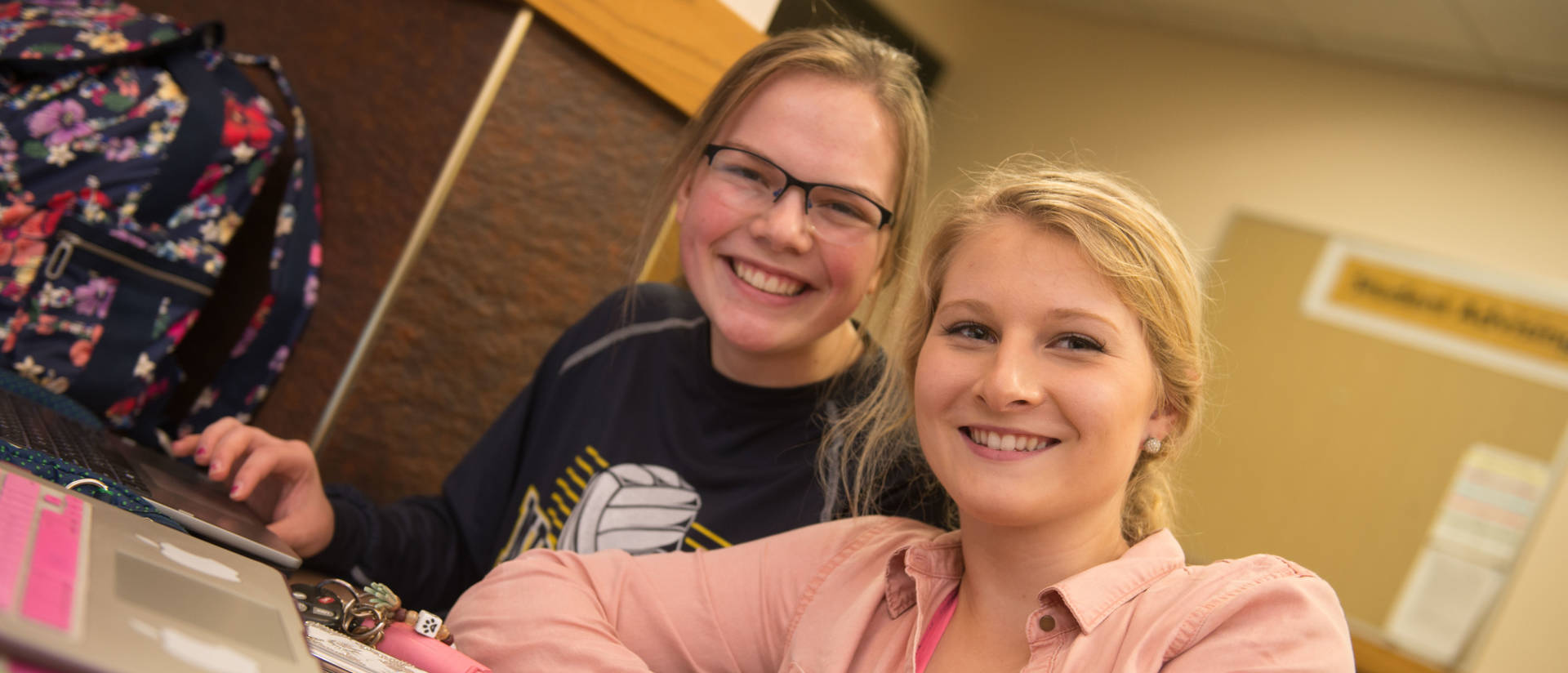 UW-Eau Claire – Barron County students study in a classroom.
