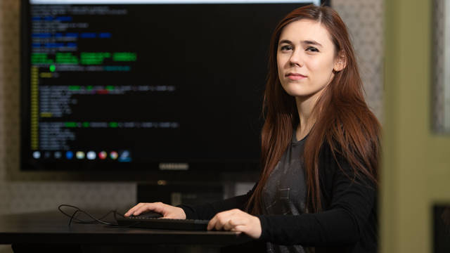Hannah Borreson is finding success and opportunities as a computer science major.
