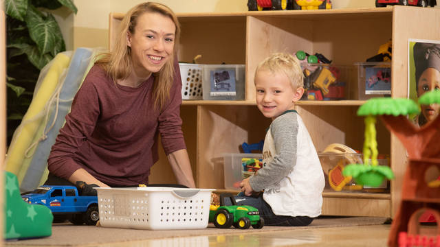 Britney Rud is working toward her education degree at the same time she is raising her son, William.