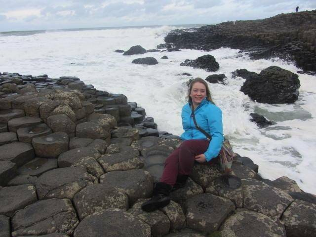 Allie Davies at Giants Causeway in Northern Ireland