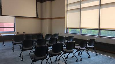 Chancellors Room: auditorium setup