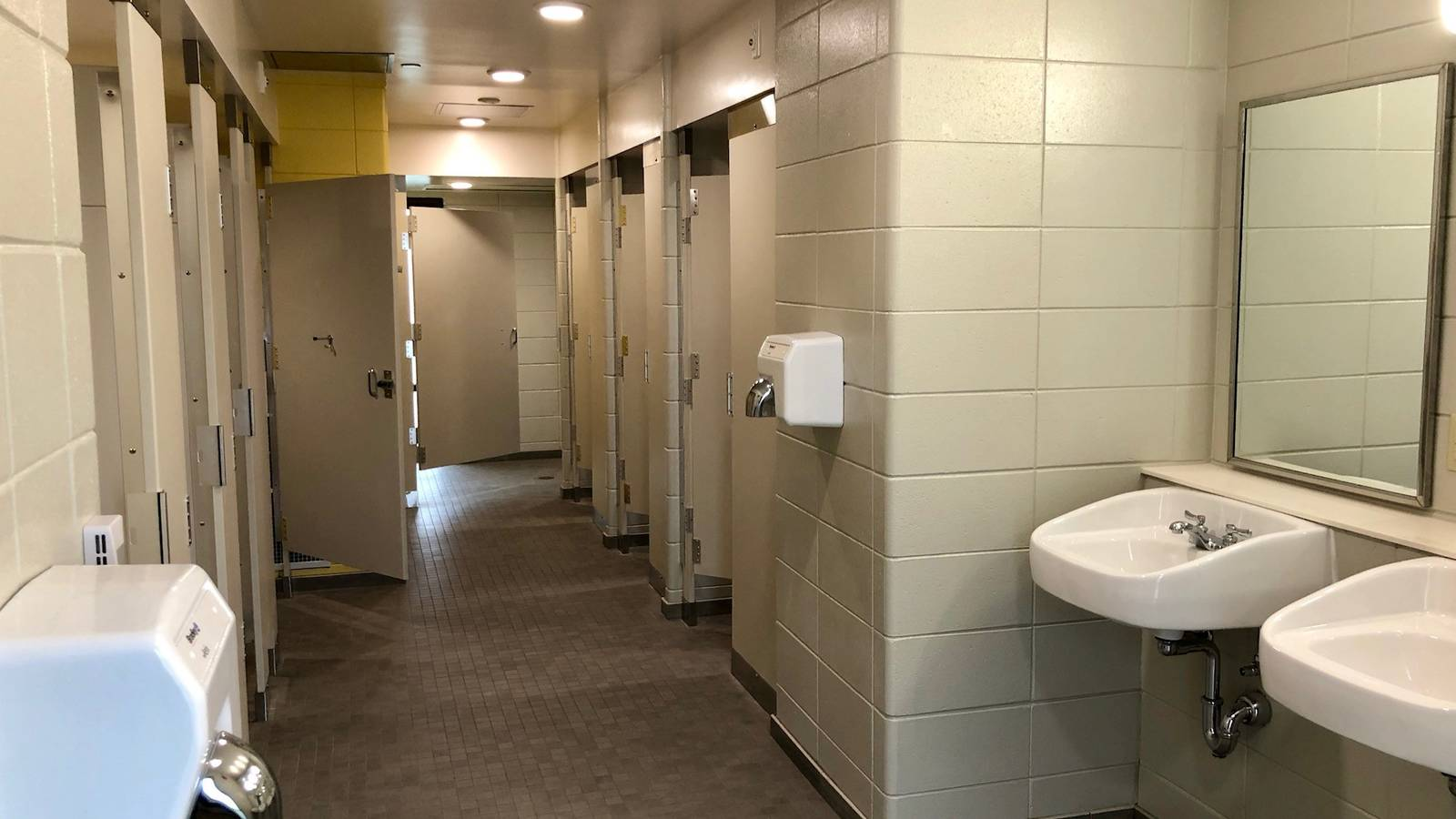 Campers appreciate the newly renovated bathrooms in Karlgaard Towers