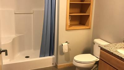 Each suite features shared bathrooms