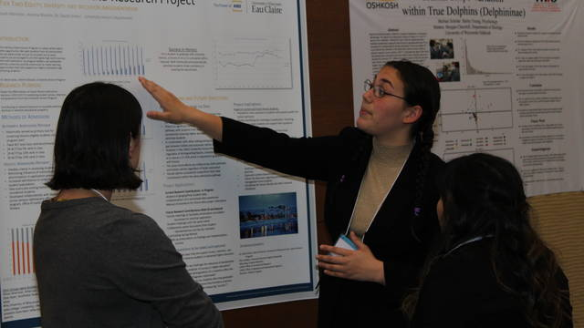 Leah Martinez presents at the Mc Nair National Conference