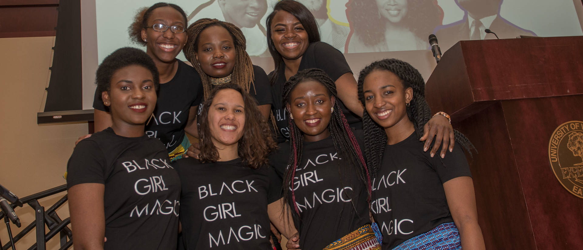 Black Girl Magic group at Black History Month dinner
