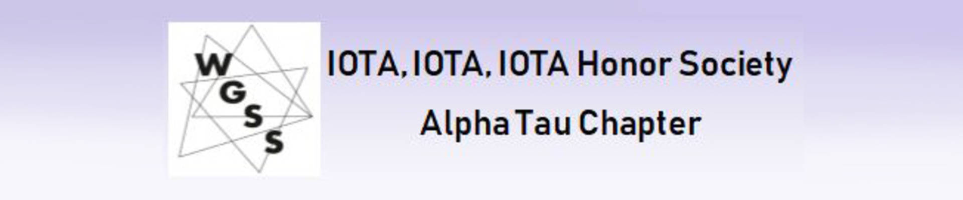 IOTA Honor Society Alpha Tau Chapter graphic logo