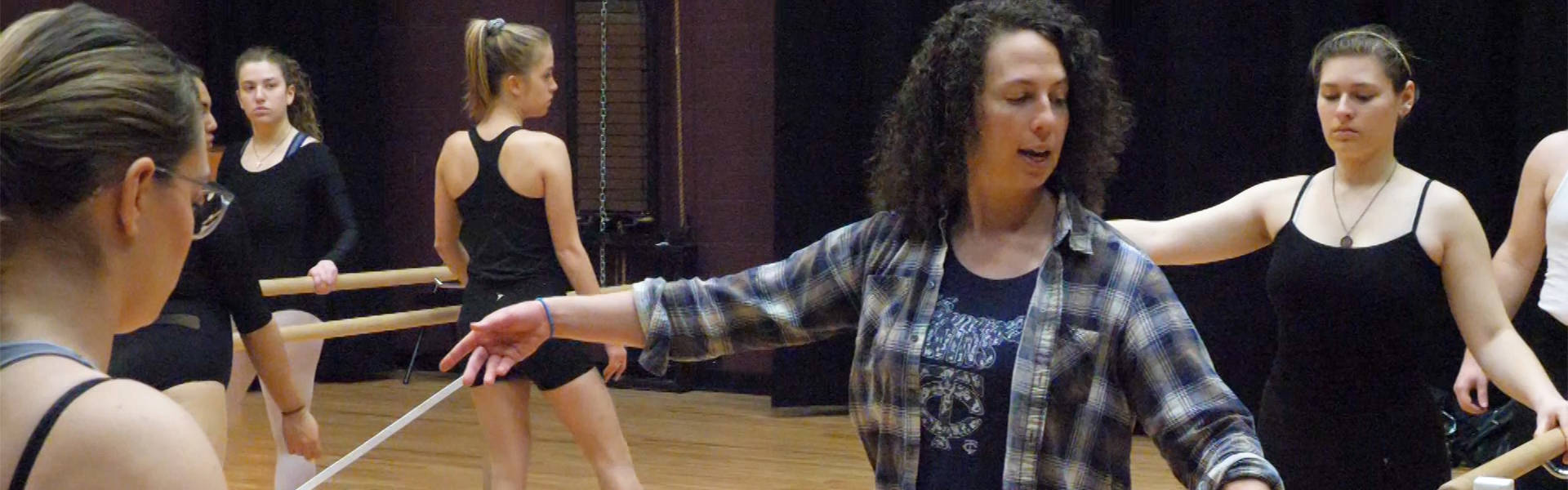 Ariella Brown teaches ballet class