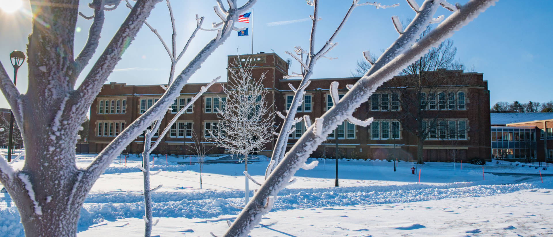 Schofield Hall in winter
