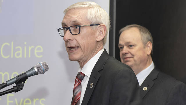 Governor Tony Evers at UW-Eau Claire, March 2019
