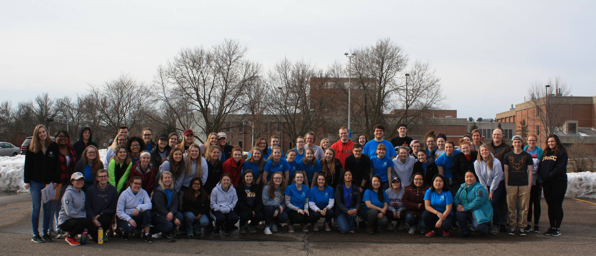 UW-Eau Claire student volunteers from past Global Youth Service Day