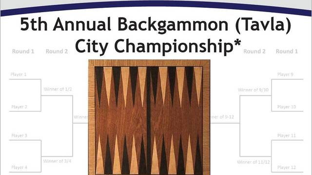 Backgammon Tournament flyer