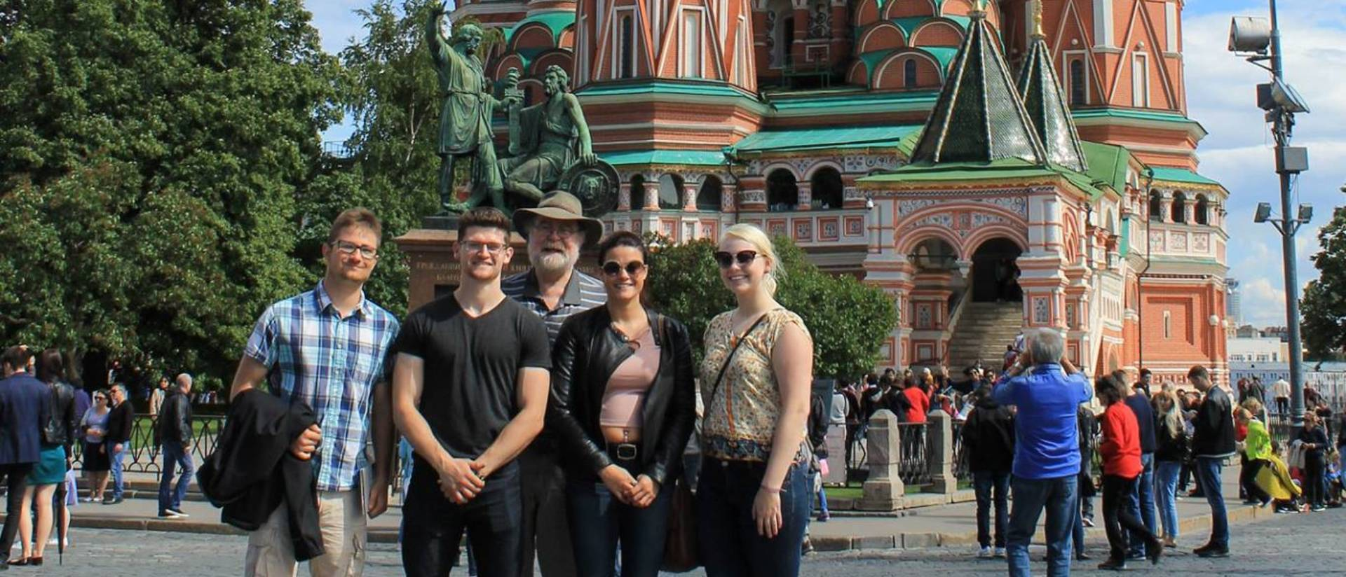 David Lewis and research student team in Russia 2017
