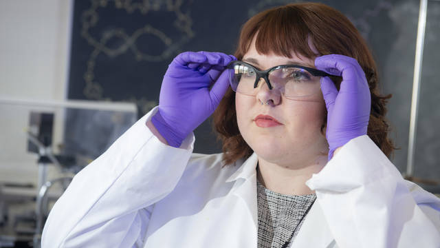 Muriel Metko came to UW-Eau Claire knowing she wanted to eventually earn her medical degree. After discovering a passion for research, the May graduate now also plans to earn her Ph.D. so she can practice medicine and engage in research.