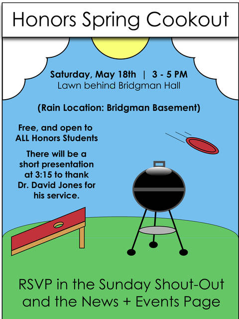 Spring 2019 Honors Cookout