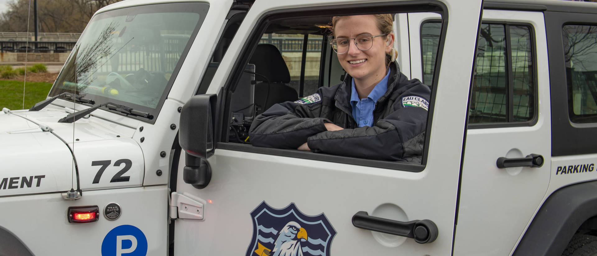 Breah Ostertag is ready to begin a career in law enforcement after earning a criminal justice degree in just two years. While going to college, she also worked as a community services officer for the Eau Claire Police Department.
