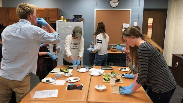 Students Making Sushi