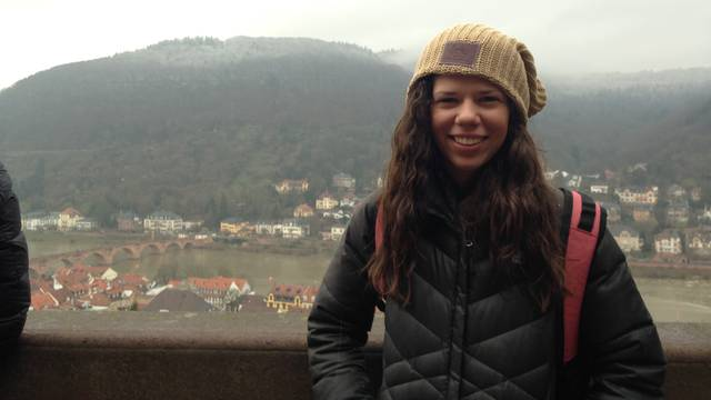 Hannah Schneeman in Heidelberg, Germany.