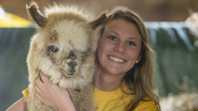 Claire Bee, who just finished her freshman year at UW-Eau Claire, has been running her own alpaca business in Mondovi since she was in middle school.