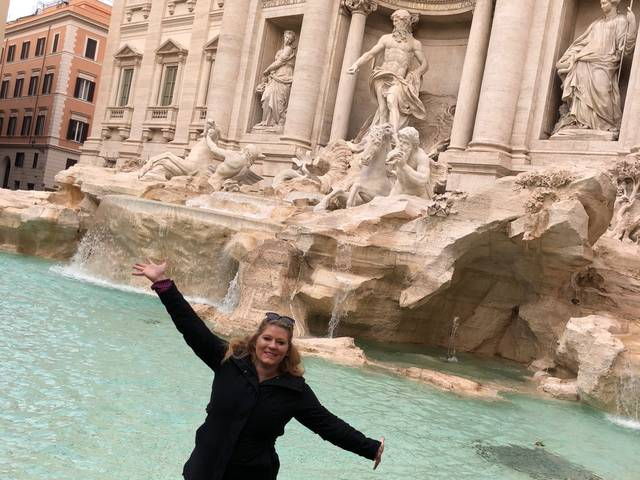 Allyson Breyer at the Trevi Fountain in Rome