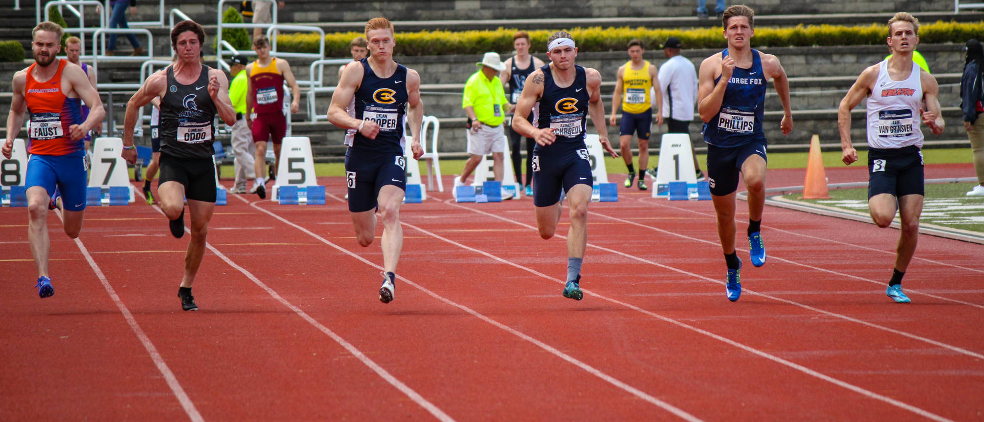 The Blugold men's track and field team captured the program's first NCAA Division III Outdoor Championship in May. (Photo by Dan Schwamberger)