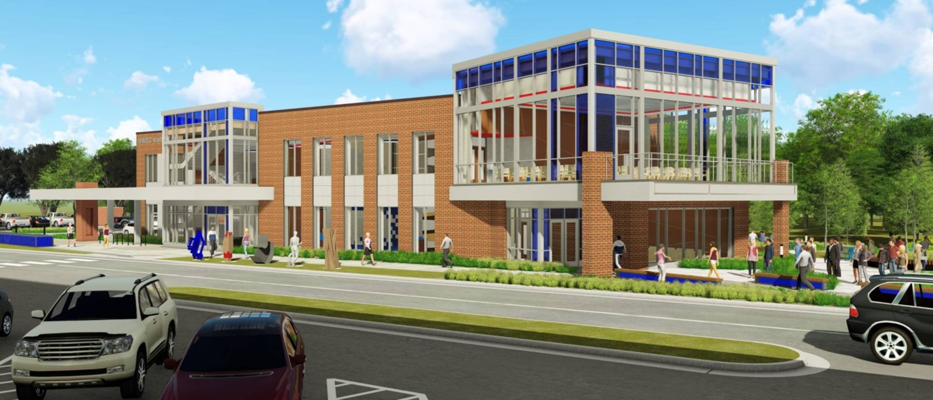 Rendering of UW-Eau Claire Visitor and Admissions Center