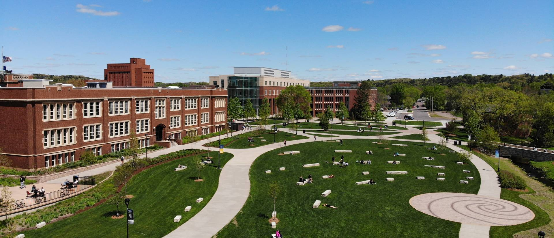 UW-Eau Claire campus mall May 2019