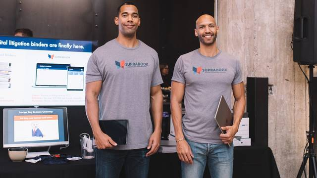 Simon (left) and Jesse Okiror have launched a new app that they hope will help more people gain access to lawyers who can help them navigate the legal system. The brothers are both graduates of UW-Eau Claire, as are their parents.