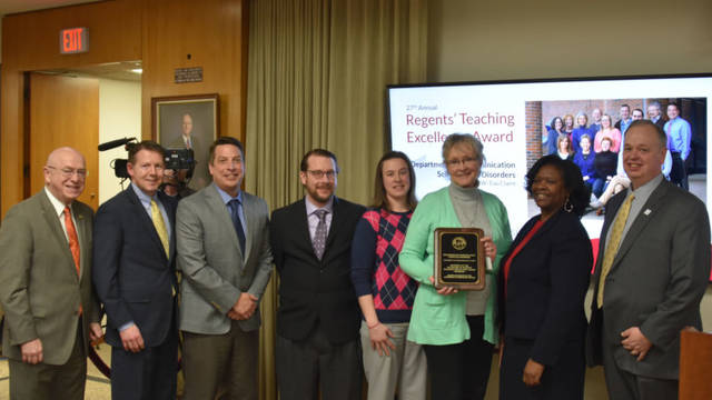 Department of Communication Sciences and Disorders is awarded department honor